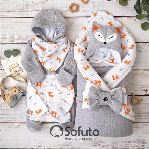 Комплект на выписку демисезонный (7 предметов) Sofuto Foxy