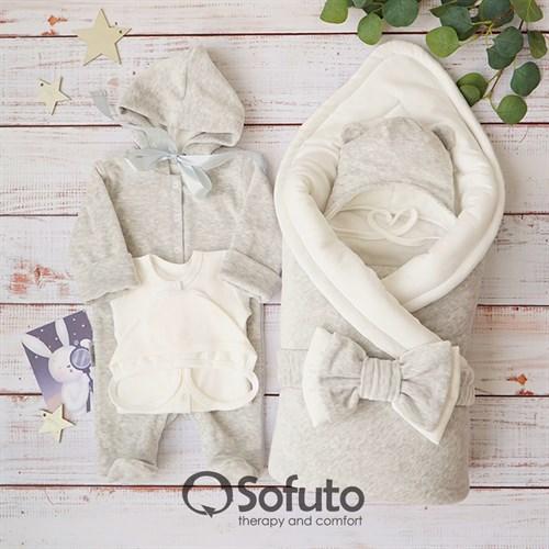 Комплект на выписку демисезонный (6 предметов) Sofuto baby Light grey