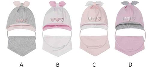 Комплект 40-006S шапка двойной трикотаж+снуд, розовый - фото 13359