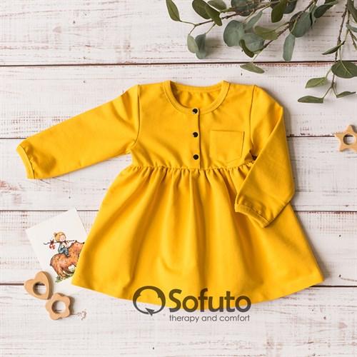 Платье детское Sofuto kids Mustard - фото 13574