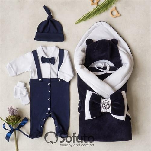 Комплект на выписку холодное лето (6 предметов) Sofuto baby Eddie - фото 13577
