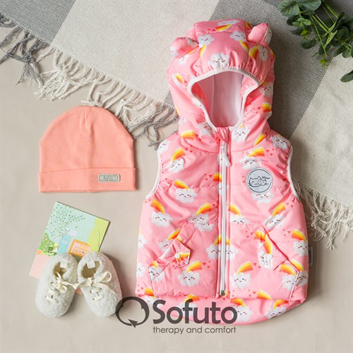 Жилет демисезонный Sofuto outwear Rainbow