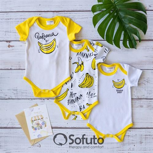 Набор боди короткий рукав Sofuto baby Bananas