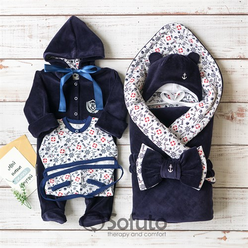 Комплект на выписку демисезонный (6 предметов) Sofuto baby Captain - фото 14307