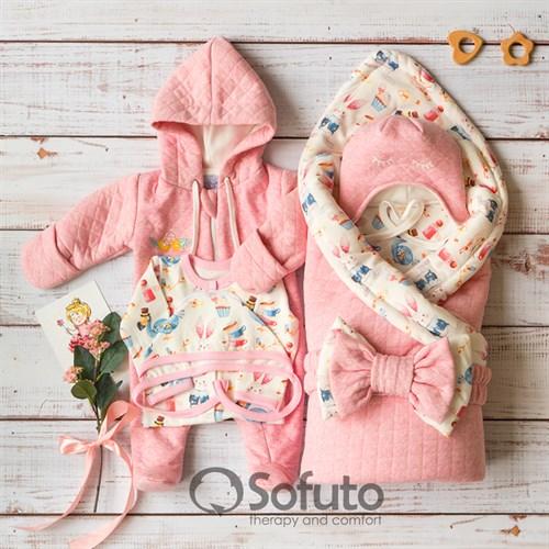 Комплект на выписку демисезонный (6 предметов) Sofuto baby Alice