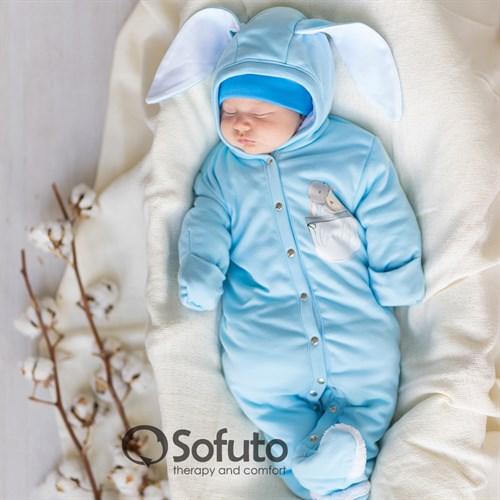 Комбинезон-теплушка Sofuto baby Bunny blue