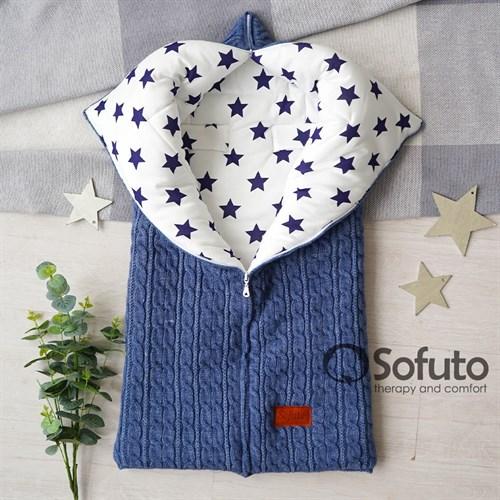 Конверт для автокресла зимний вязаный Sofuto Melange Little Star