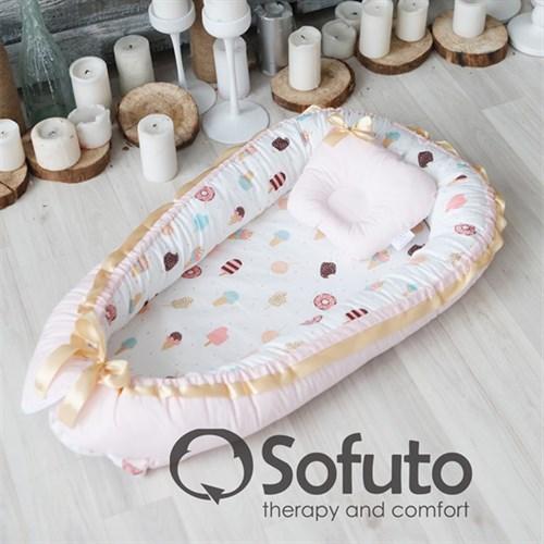 Кокон-гнездышко Sofuto Babynest Dessert