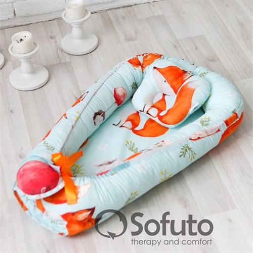 Кокон-гнездышко Sofuto Babynest Cute fox