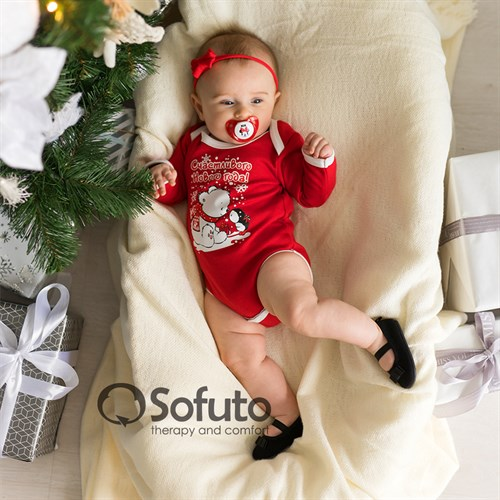 Боди детское Sofuto baby New year Red - фото 15267