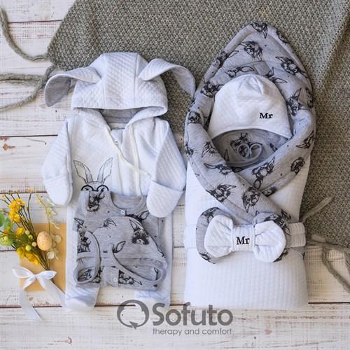 Комплект на выписку демисезонный (6 предметов) Sofuto Mr rabbit
