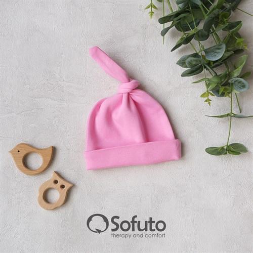 Шапочка узелок Sofuto Baby pink