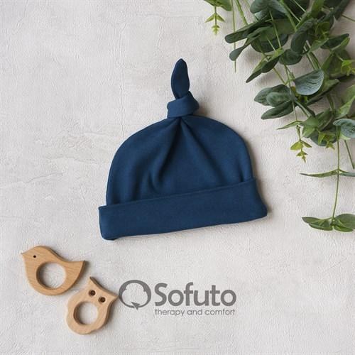 Шапочка узелок Sofuto Baby Dark blue