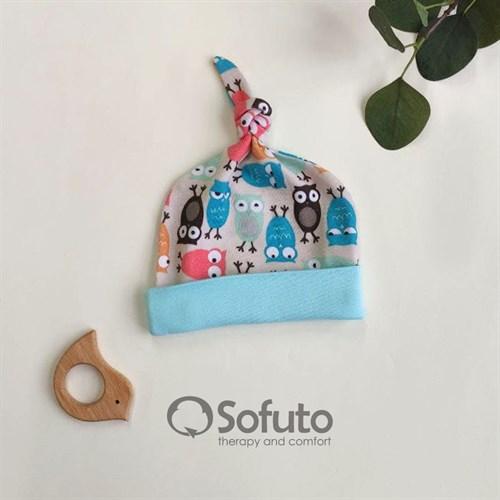 Шапочка узелок Sofuto Baby Owl