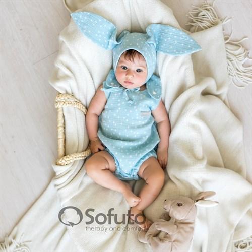 Ромпер муслиновый Sofuto baby Blue Stick