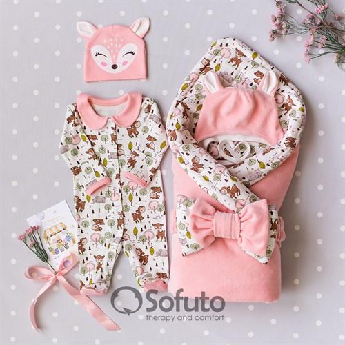 Комплект на выписку холодное лето (5 предметов) Sofuto baby Bambi
