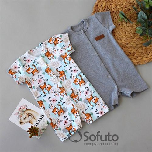 Набор ромперов Sofuto baby Tiger - фото 16014