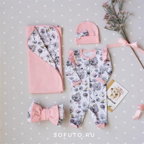 Комплект на выписку летний (4 предметa) Sofuto baby Puffi - фото 16062