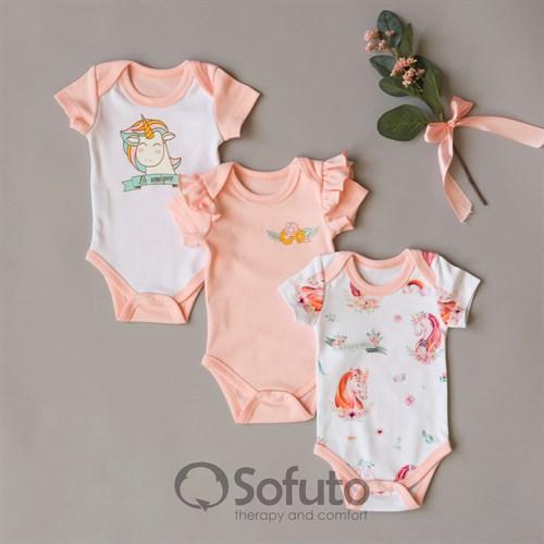 Набор боди короткий рукав Sofuto baby Sweet Unicorn