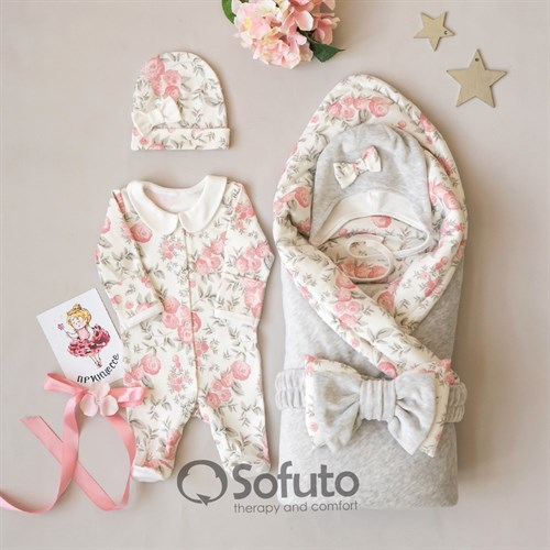 Комплект на выписку холодное лето (6 предметов) Sofuto baby Vintage