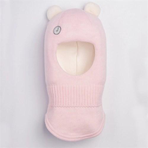 Шлем зимний вязаный Розовый Жемчуг
