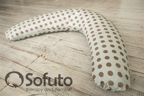 Чехол на подушку Sofuto ST Polka dot gray - фото 4181