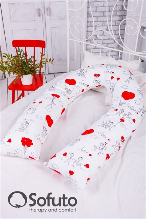 Чехол на подушку для беременных Sofuto UComfot Fly Heart - фото 4921