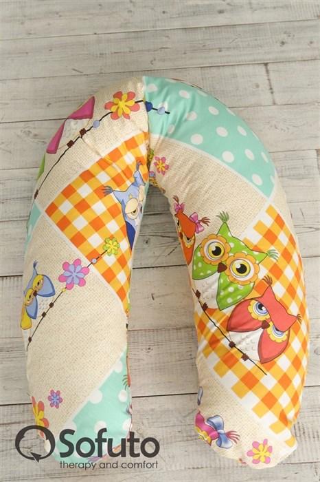 Чехол на подушку для беременных Sofuto ST Patchwork Owl - фото 4974