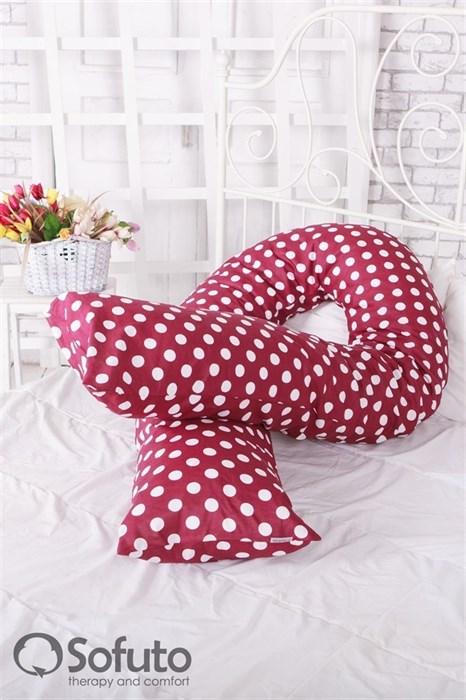 Чехол на подушку для беременных Sofuto UComfot Polka dark chocolate - фото 5032