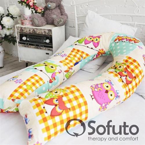 Чехол на подушку для беременных Sofuto UComfot Patchwork Owl - фото 5046