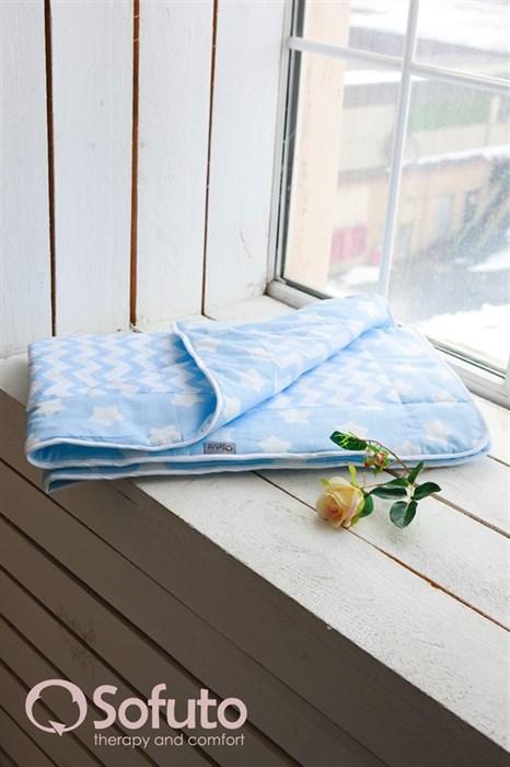 Одеяло стеганное Sofuto Babyroom Blue sky - фото 5160
