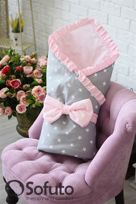Конверт-одеяло на выписку Sofuto Rose ashes - фото 5272