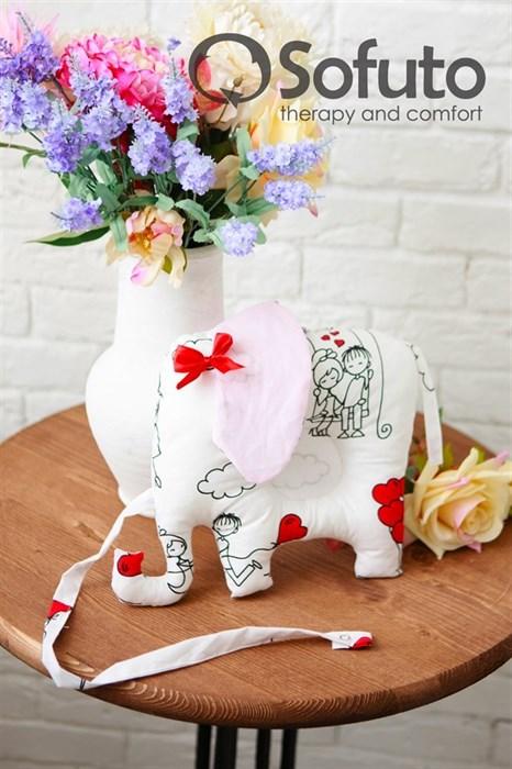 Подушка для новорожденного Sofuto Baby pillow Elephant Fly heart - фото 5280