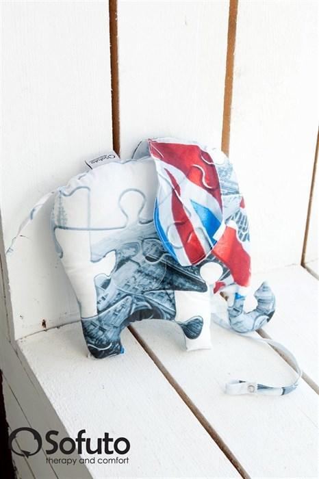 Подушка для новорожденного Sofuto Baby pillow Elephant London - фото 5284