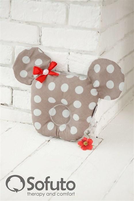 Подушка для новорожденного Sofuto Baby pillow Mouse Babynest Polka dot duble - фото 5302