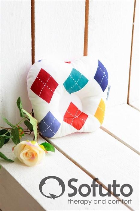 Подушка для новорожденного Sofuto Baby pillow Arlecchino - фото 5308