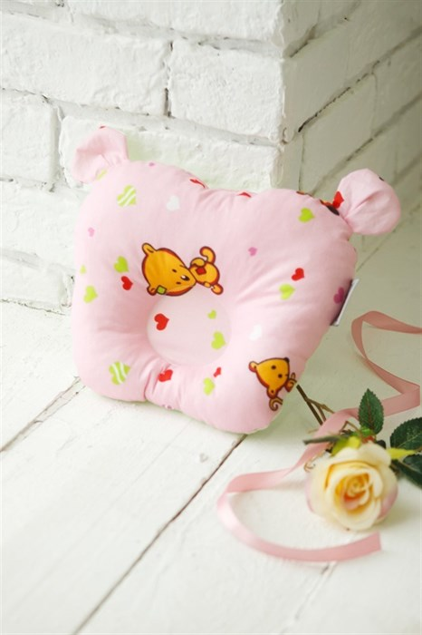 Подушка для новорожденного Sofuto Baby pillow Teddy Likes pink - фото 5326