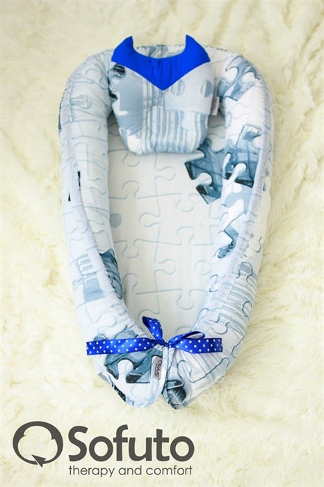 Кокон-гнездышко Sofuto Babynest Super Man - фото 5505