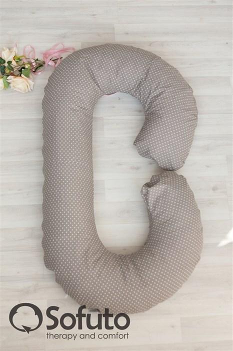 Чехол на подушку для беременных Sofuto CСompact Polka mini dot chocco - фото 5538