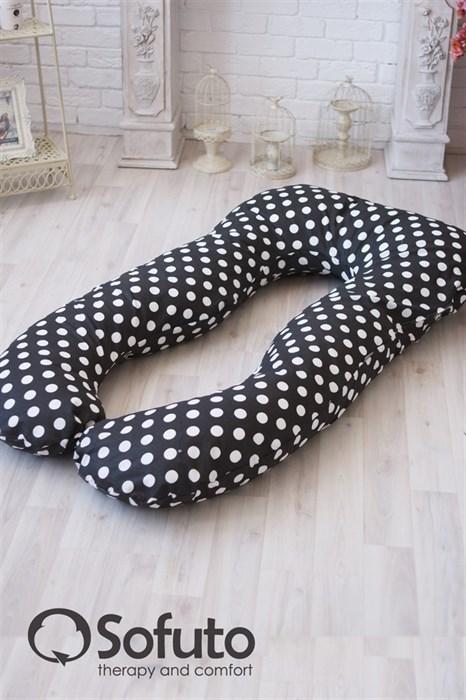 Чехол на подушку для беременных Sofuto UAnatomic Polka dot black - фото 5610