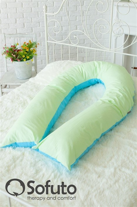 Чехол на подушку для беременных Sofuto UComfot Praline blue - фото 5622