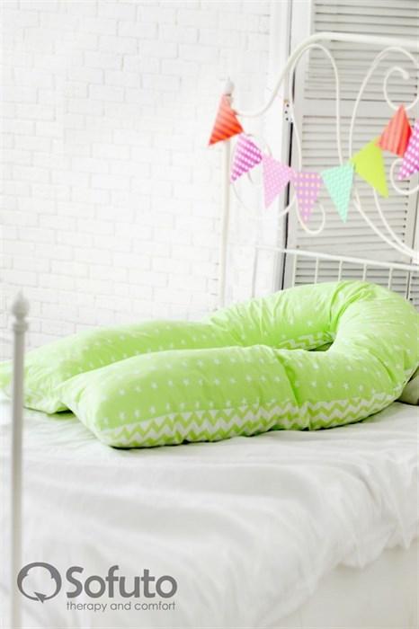 Чехол на подушку для беременных Sofuto UComfot Stars and waves fresh - фото 5628