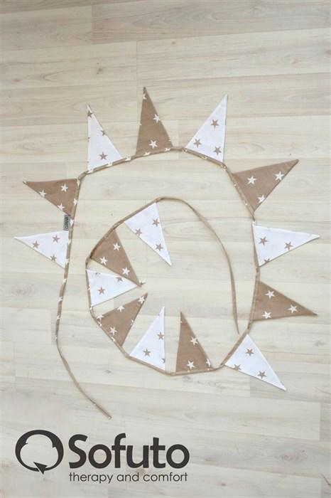 Гирлянда из ткани Sofuto Flags Latte - фото 5695