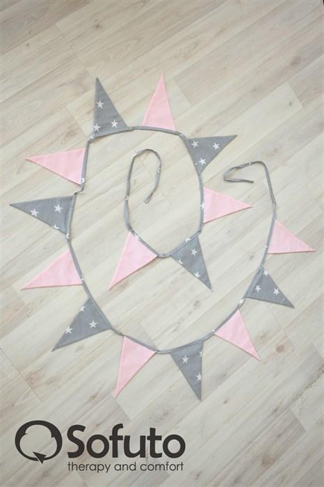 Гирлянда из ткани Sofuto Flags Rose ashes - фото 5697