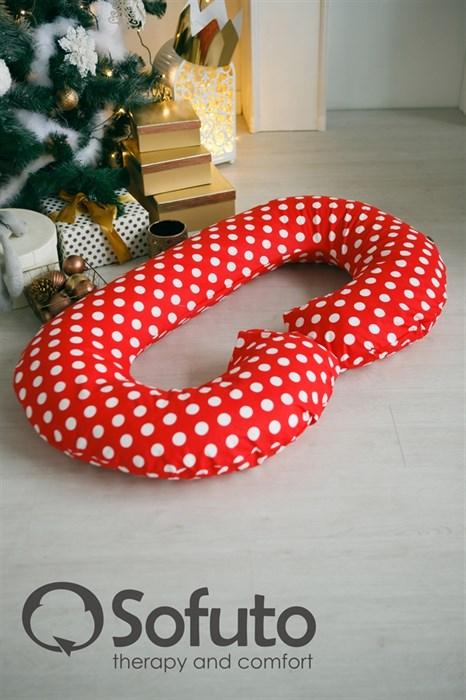 Подушка для беременных Sofuto CСompact Red dots - фото 6154