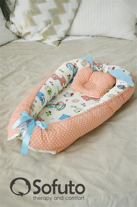 Кокон-гнездышко Sofuto Babynest Toys - фото 6204