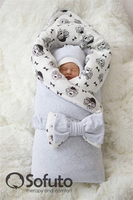 Комплект на выписку зимний (7 предметов) Sofuto baby Light grey bears - фото 6592