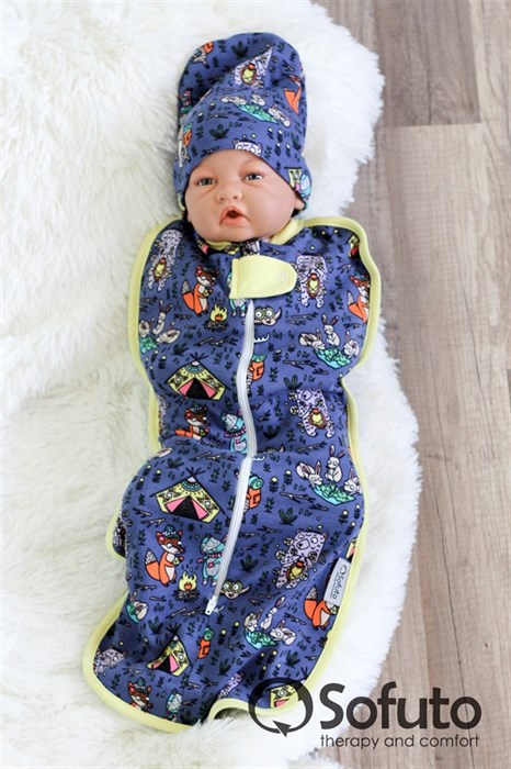 Шапочка hipster Sofuto Baby animals travellers - фото 6660