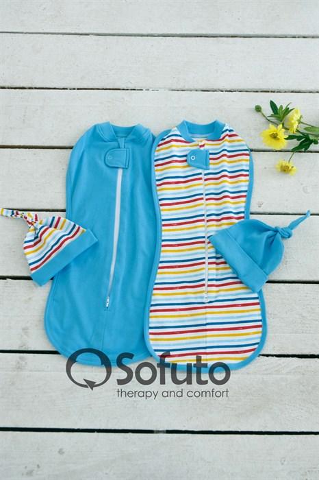 Комплект пеленок Sofuto Swaddler rainbow stripe - фото 6686