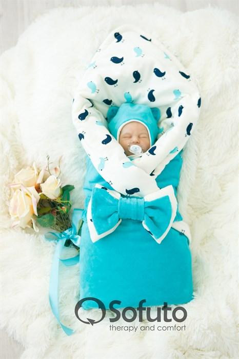 Комплект на выписку холодное лето (6 предметов) Sofuto baby Vincent - фото 6837